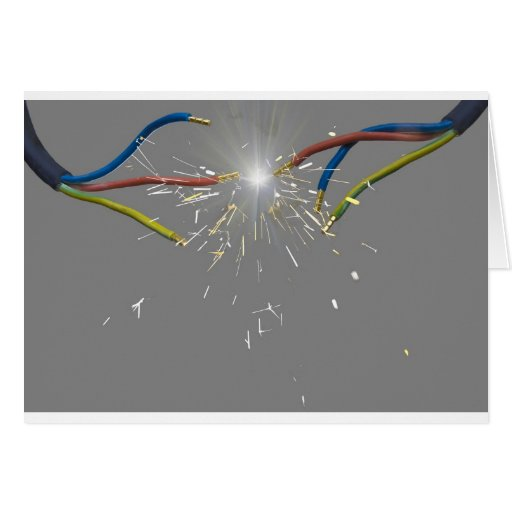 electrical spark greeting cards