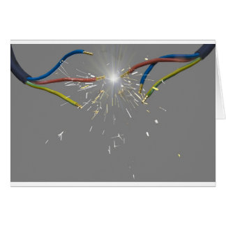 electrical spark greeting card
