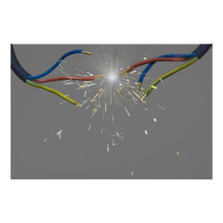 electrical spark posters
