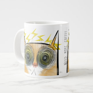 Electrically urgent caffeine cat jumbo mug