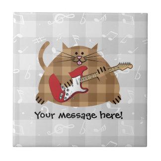 Electricat - Electric Guitar Kitty Musician Tile