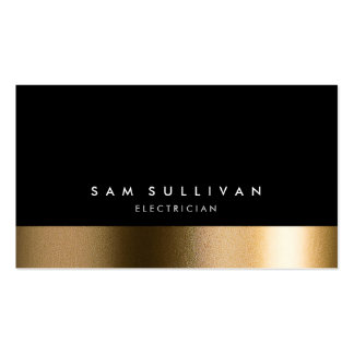Electrician Bold Black Gold Business Card