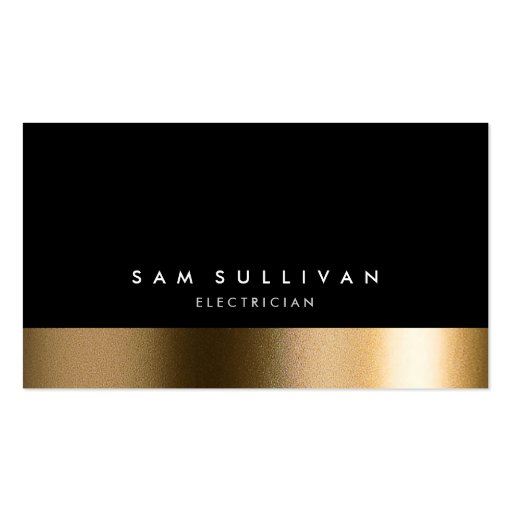 Electrician Bold Black Gold Business Card Business Card Templates