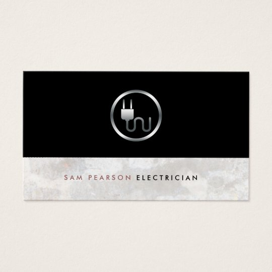 Electrician Bold Electric Plug Icon Simple Elegant Business