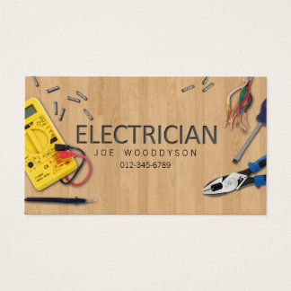 Electrician Business Card Electrical Tools