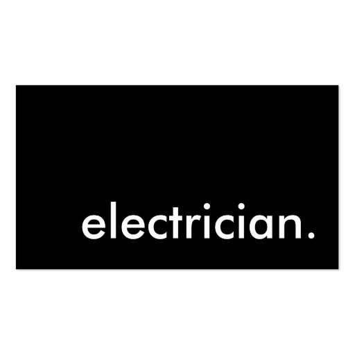 Electrician zazzle for Electrician business cards templates free