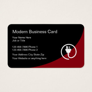 138 electrical contractor business cards and electrical for Electrician business card