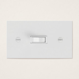 Electrician Business Cards (Light Switch)