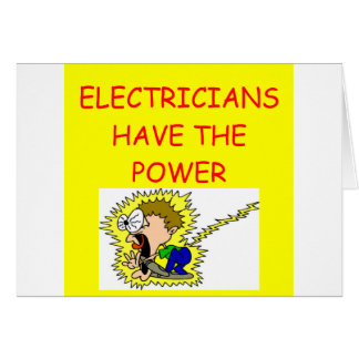 ELECTRICIAN CARD
