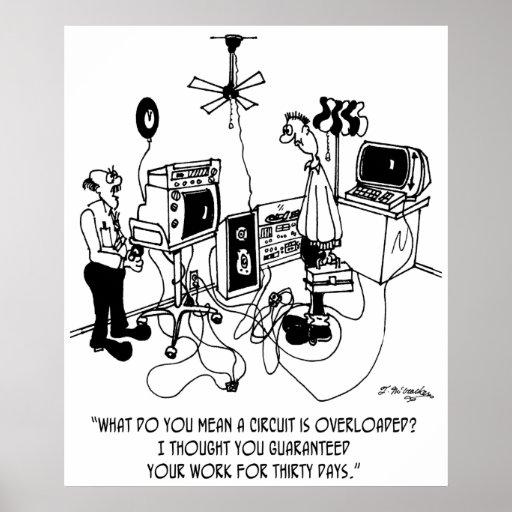 Electrician Cartoon 4427 Poster