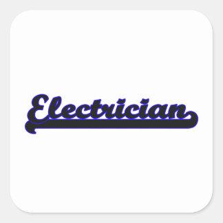 Electrician Classic Job Design Square Sticker