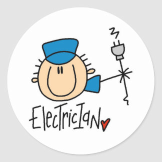 Electrician Classic Round Sticker