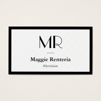 Electrician - Clean Stylish Monogram Business Card