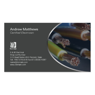 Electrician Colored Electrical Cable Wires Double-Sided Standard Business Cards (Pack Of 100)