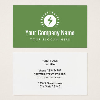 Electrician company logo business card template