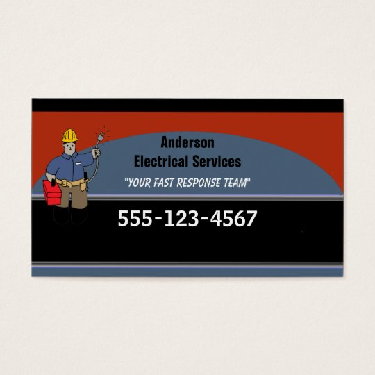 Electrician Custom Personalised Business Card