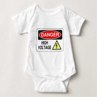 Electrician Danger High Voltage Baby Bodysuit