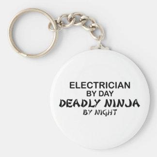 Electrician Deadly Ninja by Night Key Chain