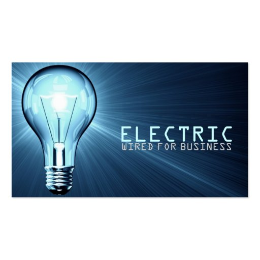 Electrician electric construction business card 240439931948092682