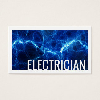 Electrician Electric Discharge Blue Business Card