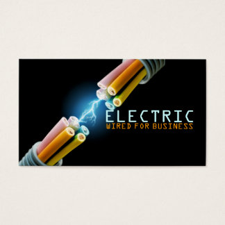 Electrician Electric Electricity Light Shock Wire Business Card