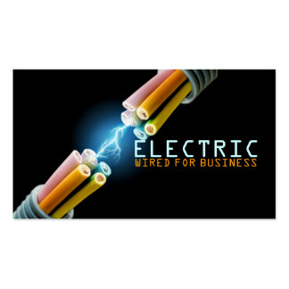 Electrician Electric Electricity Light Shock Wire Pack Of Standard Business Cards