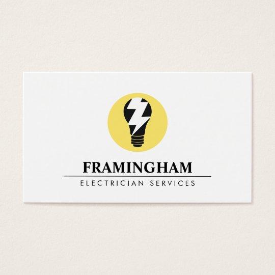 Electrician Electrical Light Bulb Logo Business Card