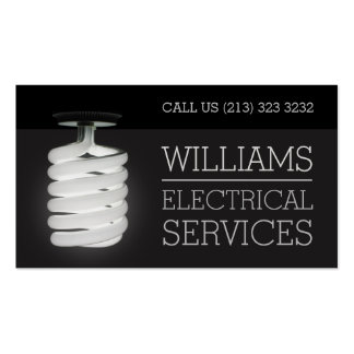 Electrician Electrical Services Light Bulb Pack Of Standard Business Cards
