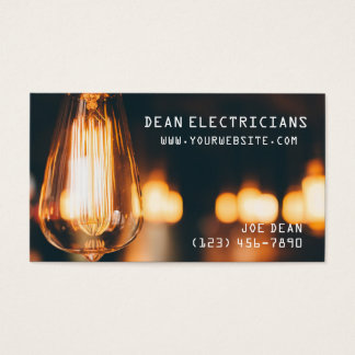 Electrician Electricity Business Card