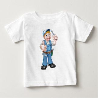 Electrician Handyman Cartoon Character Baby T-Shirt