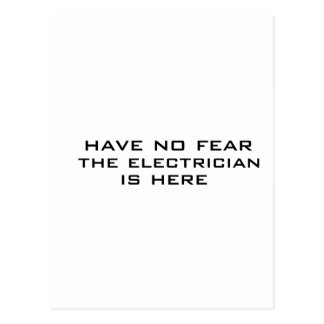 Electrician is here postcard