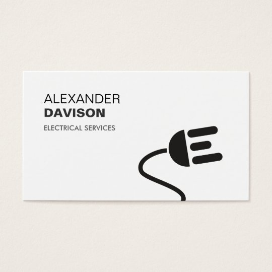 ELECTRICIAN LOGO MODERN BUSINESS CARD II