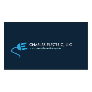 ELECTRICIAN LOGO MODERN BUSINESS CARD IN BLUE