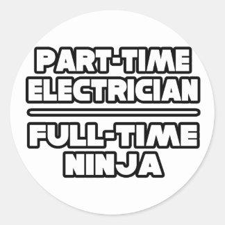 Electrician Ninja Sticker