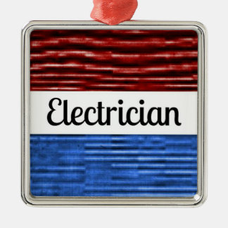 Electrician Patriotic Christmas Ornament