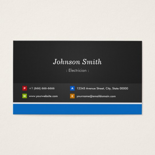 Electrician - Professional Customisable Business Card