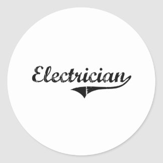 Electrician Professional Job Classic Round Sticker