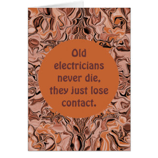 electrician retirement card