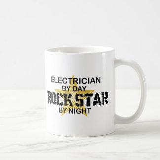 Electrician Rock Star by Night Coffee Mug
