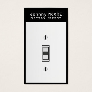 Electrician services light switch cover business card