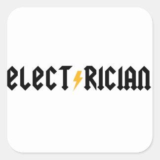 Electrician Square Sticker