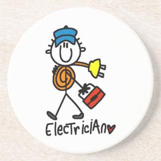 Electrician Stick Figure Coaster