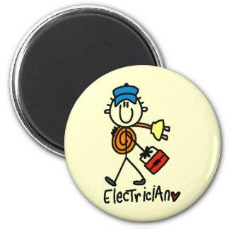 Electrician Stick Figure Magnet