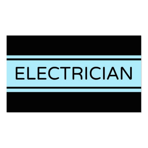 Electrician Stripe Business Card