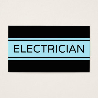 Electrician Stripe Business Card