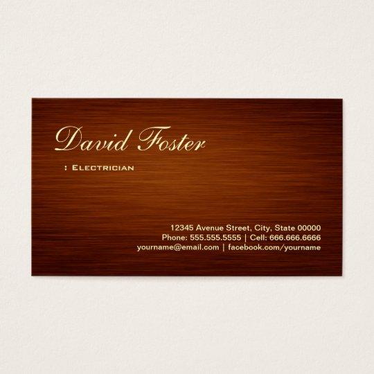 Electrician - Wood Grain Look Business Card