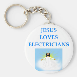 ELECTRICIANS BASIC ROUND BUTTON KEY RING