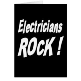 Electricians Rock! Greeting Card