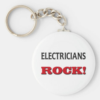 Electricians Rock Key Ring