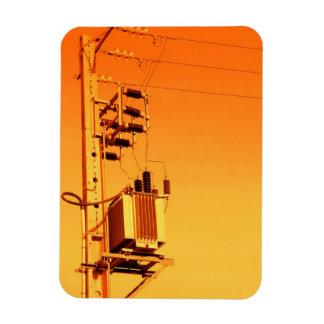 Electricity distribution equipment rectangular photo magnet